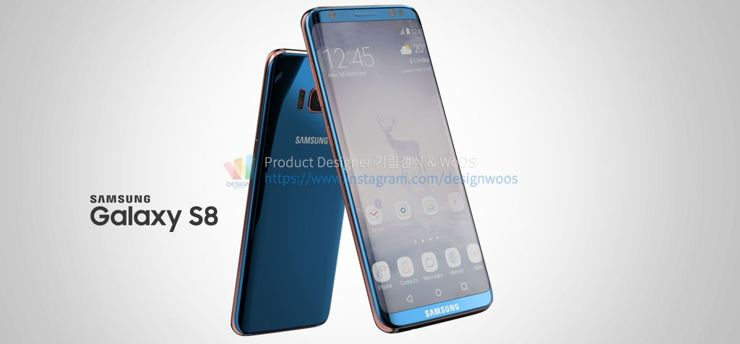 One of many visualisations of Galaxy S8