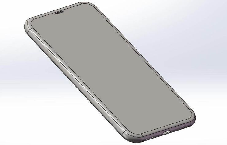3D sketch of iPhone 8