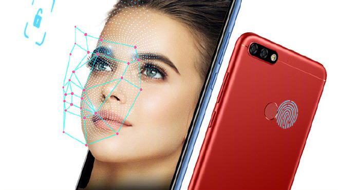 Face recognition in the Honor 7C model