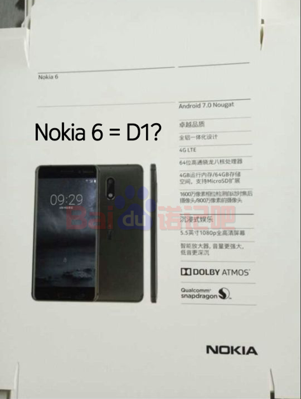 The package of Nokia 6