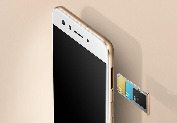 Oppo F3 - not a hybrid dual-SIM