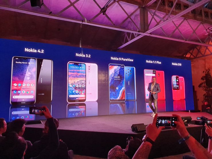 Nokia presented five new models