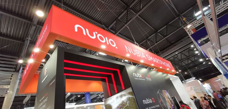At the Nubia's stand