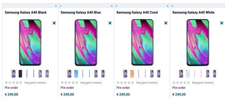 Samsung Galaxy A40 already on sale