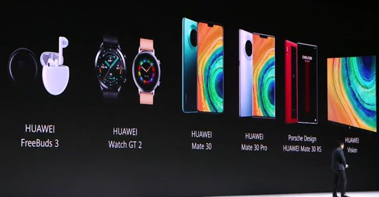 The launch of the Huawei Mate 30 family