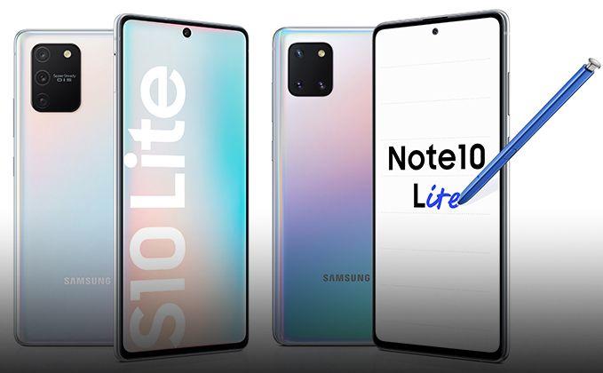 Samsung Galaxy S10 Lite and Note10 Lite