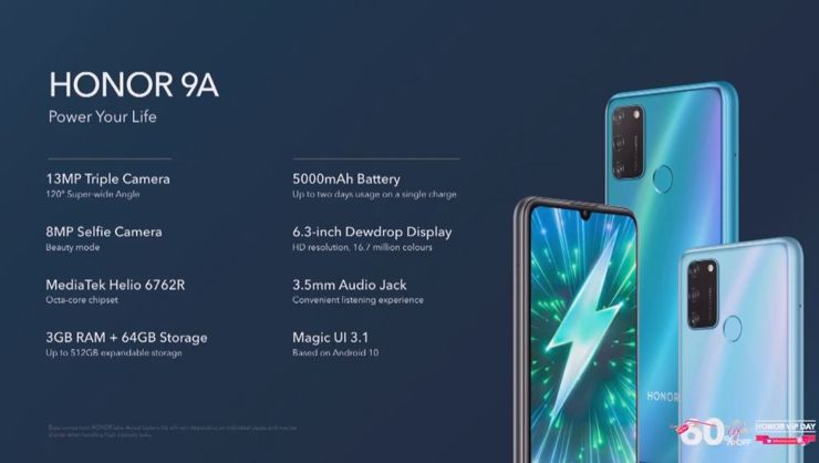 Honor 9A has entered Europe