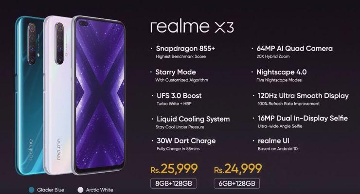 Realme X3 officially presented
