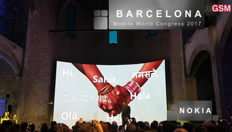 The launch of Nokia phones in Barcelona