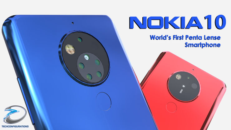 Nokia 10 - with and without the camera cover