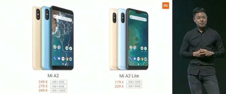 Xiaomi Mi A2 и A2 Lite официальная премьера