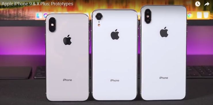 Dummies of this year's iPhones