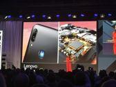 Moto E6 Plus at the conference...