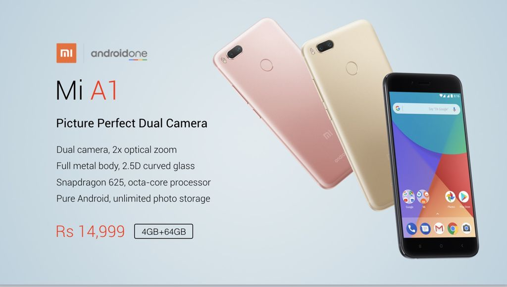 Xiaomi Mi A1 - Android One and dual camera :: GSMchoice com
