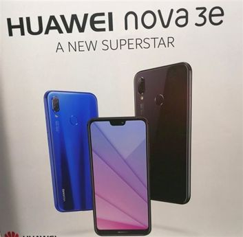 Poster che annunziano il modello Nova 3e