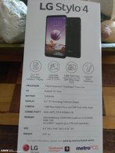 A packaging and a leaflet of LG Stylo 4