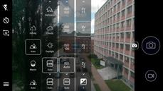 Interface der Kamera-Applikation, manueller Modus