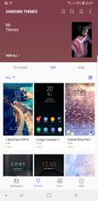 Interface personalization: changing wallpapers, themes, icons and AoD