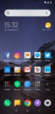 Bildschirmsperre, Desktop, Auswahl der Applikationen und ihre Optionen