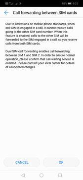 DualSIM options | Voice calls