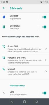 DualSIM settings | Voice calls
