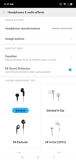 Music player and sound settings