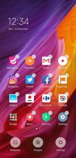 Main screen and its options, last used apps menu and dividing screen