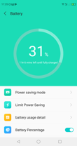 App for managing the battery - power saving mode