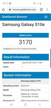 Lifespan with the display on | PC Mark result | Geekbench result