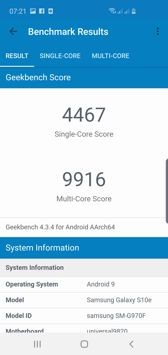 Benchmarks result