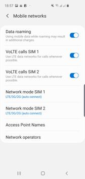 Dual SIM settings| Voice calls