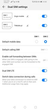 Dual SIM settings | Voice calls