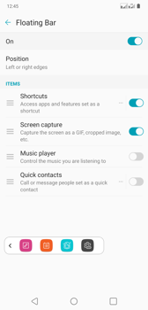 Selected function and personalization elements