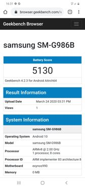 Battery benchmarks - screen setting at 60 Hz and 120 Hz
