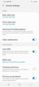 Camera application