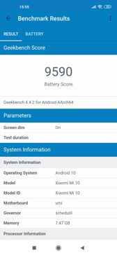 Battery benchmarks with 90 Hz and 60 Hz