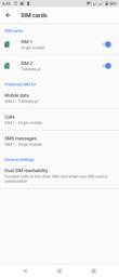 DualSIM support | Voice calls