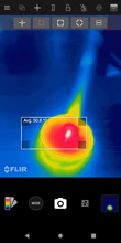 MyFLIR - available palettes, modes and measurements